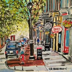 """BUSY PRINCE WILLIAM ST"" Prints from $30"