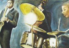 #SonnyRollinsTrio/ #Jazz/ #Band/ #Musiker, #Acryl auf #Leinwand, 50 x 70 cm
