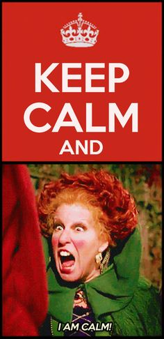 "keep calm and ""I am calm!"""