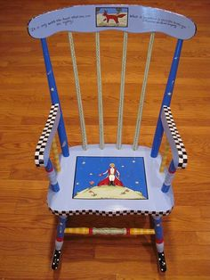 Hand Painted Little Prince Rocking Chair.  via Etsy.