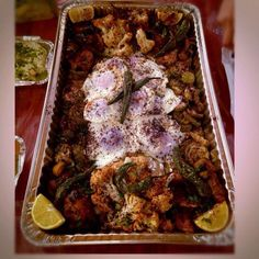 Magali (fried foods)   With fried zucchini, eggs, eggplants, cauliflower, even peppers!   A great dish! Jordan