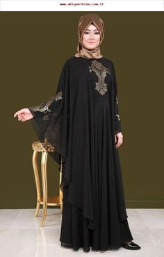 Al Karam Latest Abaya Designs Hijab Evening Dress, Black Evening Dresses, Hijab Dress, Muslim Women Fashion, Arab Fashion, Abaya Designs, Couture Dresses, Fashion Dresses, Modest Dresses