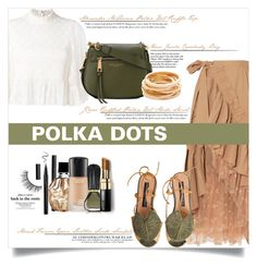 """Polkadots #3"" by elimarga ❤ liked on Polyvore featuring J.Crew, McQ by Alexander McQueen, Tiffany & Co., Jimmy Choo, Marc Jacobs, MAC Cosmetics, Oribe, Kenneth Jay Lane, Bobbi Brown Cosmetics and Miss Selfridge"