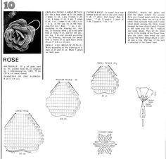 Falando de Crochet - Gráficos: ROSA DE CROCHET - ALARANJADA