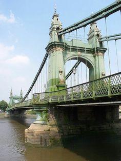 Hammersmith Bridge - rebuild completed in 1887