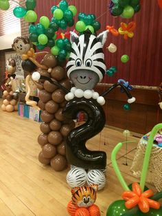 Zebra Balloon decoration