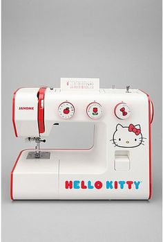 UrbanOutfitters.com > Hello Kitty Sew Cute Sewing Machine @Jessica Jernigan for Frances? This one has more stitches options and a one step buttonhole (although I find the 4 step super easy on mine, plus I love the mint green color, although this one is super cute) on sale for $149.99