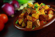 Batata harra spicy potatoes in Arabic, is a Lebanese food