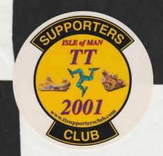 2001 ISLE OF MAN TT SUPPORTERS CLUB ORIGINAL PERIOD RACE STICKER CANCELLED RACES
