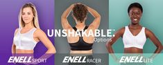 Enell Sports Bras - 3 sports bra options designed for women C cup and above Home Exercise Routines, At Home Workouts, Home Exercise Program, Cardio Routine, Do Exercise, Workout Programs, Best Sports Bras, Touch Of Gray