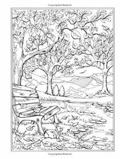 Enchanted Forest Coloring Pages | Adult Coloring Book Nice Little Town Volume 2 - Creative ...