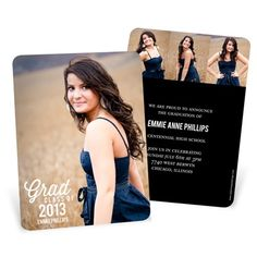 These popular graduation announcements from @peartreegreet can be personalized with photos, text and colors! Enjoy sharing this exciting milestone with loved ones!