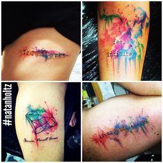 Tattoo Watercollor by Natan Holtz #tattooartist #natanholtz #tattoowatercolor #watercolortattoo #watercolor