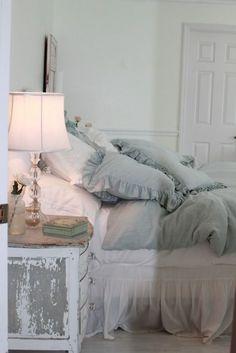 ? pale blue pillows