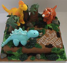 Dinosaur birthday cake!! :-) by Pauls Creative Cakes, via Flickr