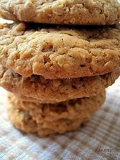 Oatmeal Pumpkin Spice Cookies... Buttery delicious Oatmeal cookies. You can switch out the pumpkin spice for apple spice and have one cookie recipe that gives you 2 different flavors.