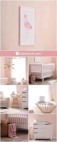 Make it clear you've welcomed a baby girl with a nursery that's unmistakably feminine. A soft pink palette sets the tone, but feel free to use gold accents to glam things up a bit.