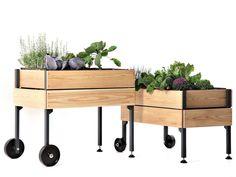 Blumenkasten aus Holz vegeTable™ by vegeTable | Design Giacomo Borta