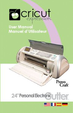 Cricut And Manual On Pinterest
