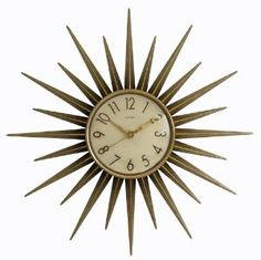 Chaney 75153 Retro Star Clock $25.04 #retro #star clock