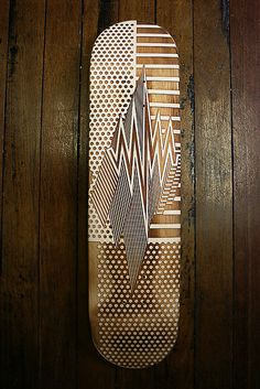 amazing etched skateboard deck