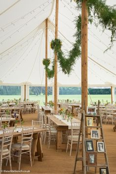 A summer marquee with all flowers and venue styling by Bristol Wedding & Event florists, The Wilde Bunch. All Flowers, Wedding Flowers, Wedding Events, Weddings, Marquee Wedding, Florists, Bristol, Canopy, Summer