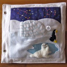 Penguin & Igloo Quiet Book Page