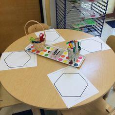 Hexagon open art for Rosh Hashana!
