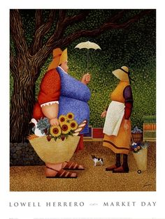 Market Day, Art Print by Lowell Herrero