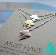 Hey, I found this really awesome Etsy listing at https://www.etsy.com/listing/215506887/cute-cloud-necklacnecklace-climate