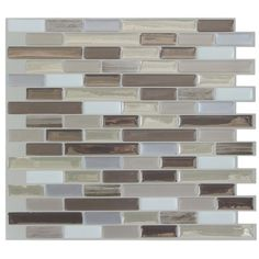 "Smart Tiles Muretto Durango 10.25"" x 9.13"" Peel & Stick Mosaic Tile in Beige & Gray & Reviews 