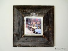 This weekend, I thought I'd make some picture frames out of recycled barn wood.