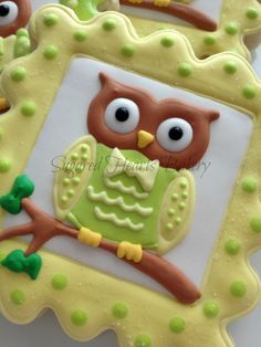 1 Dozen Owl Cookie Favors by SugaredHeartsBakery on Etsy