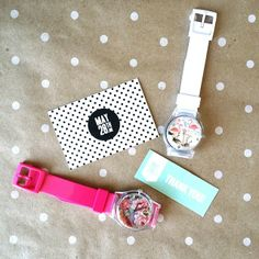 Cutest watches by @MAY28TH! You can also custom make your own designs but I'm loving these two new options in time for spring. Which one do you like more? #may28th #watch #armswag via @mylittlesecrets_ca