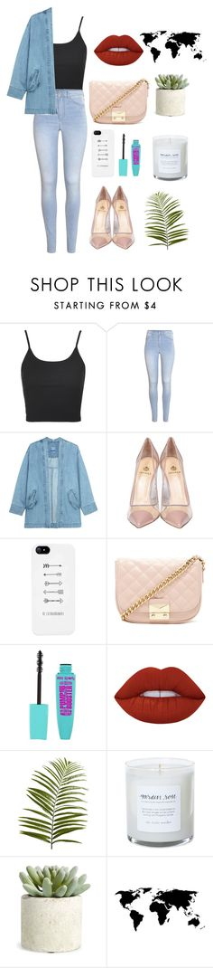 """""""all around"""" by montaniwangsa on Polyvore featuring Topshop, H&M, Steve J & Yoni P, Semilla, Forever 21, Lime Crime, Pier 1 Imports, Allstate Floral and denim"""