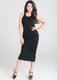 Black tank top maxi dress
