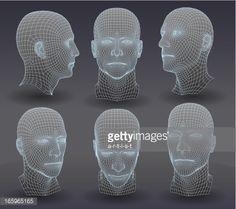 Vector Art : Three dimensional heads