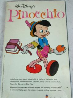 Vintage 1962 Walt Disney's Pinnochio Colorforms Cartoon Kit 186 | eBay