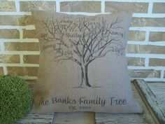 Hey, I found this really awesome Etsy listing at http://www.etsy.com/listing/113997567/family-tree-burlap-pillow-personalized