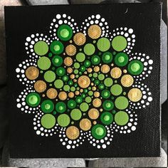 4 x 4 Hand-Painted Mandala on Canvas dot