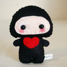 I Love You Ninja - Mini Felt Plush