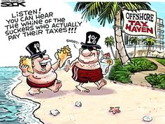 Afbeeldingsresultaat voor paradise papers cartoon