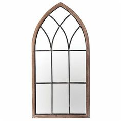 Combine the elegance of the past with the craftsmanship of the present with this cathedral style mirror. Featuring an arch crowned top and antiquated colors, this distressed mirror is ideal to furnish