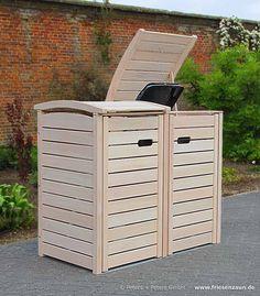 • Mülltonnenbox CLASSIC aus FSC Hartholz