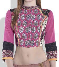 Buy pink cotton blouse blouse online
