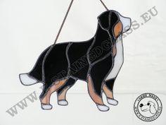 witraż stained glass dogs psy zawieszki dla domu