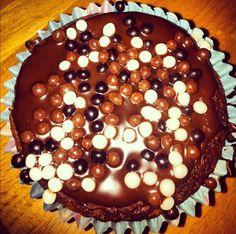 Homemade chocolate and vanilla cupcakes