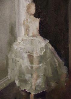 "Saatchi Art Artist: Fanny Nushka Moreaux; Oil 2014 Painting ""White Gauze (SOLD) """