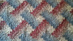 red blue and tan weaver fever quilt by 4quiltsandmore on Etsy