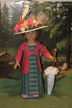 ... Dress, Edwardian Dress and Hat for 18 inch dolls like American Girl by